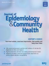 Journal of Epidemiology and Community Health: 73 (9)