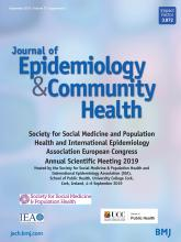 Journal of Epidemiology and Community Health: 73 (Suppl 1)