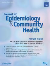 Journal of Epidemiology and Community Health: 74 (10)