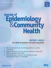 Journal of Epidemiology and Community Health: 74 (11)