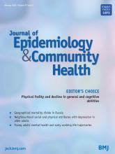 Journal of Epidemiology and Community Health: 74 (2)