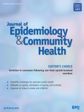 Journal of Epidemiology and Community Health: 74 (4)