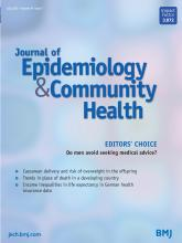 Journal of Epidemiology and Community Health: 74 (7)