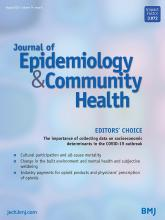 Journal of Epidemiology and Community Health: 74 (8)