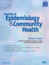 Journal of Epidemiology and Community Health: 74 (9)