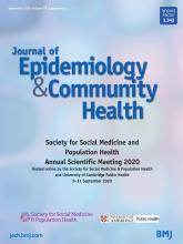 Journal of Epidemiology and Community Health: 74 (Suppl 1)