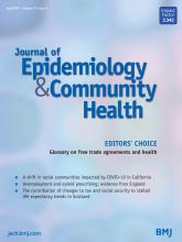 Journal of Epidemiology and Community Health: 75 (4)