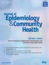 Journal of Epidemiology and Community Health: 75 (5)