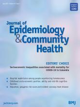 Journal of Epidemiology and Community Health: 75 (7)