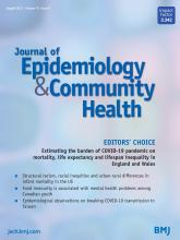 Journal of Epidemiology and Community Health: 75 (8)