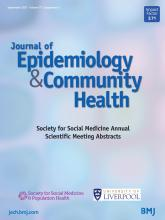 Journal of Epidemiology and Community Health: 75 (Suppl 1)